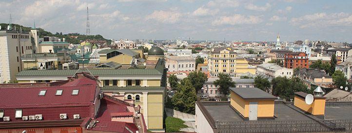 Balcony view from Podol apartment at Igorevska 2